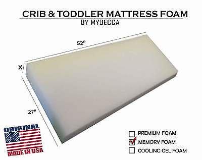 "Mybecca 27""W x 52""L Crib & Toddler Bed Mattress Cushion Topper & Playpen Pad"