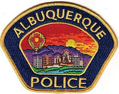 Albuquerque Police New Mexico gold blue patch New Mexico silver NEW