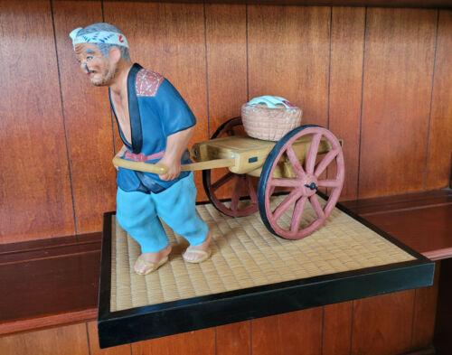 Vintage Hakata Mimasu Doll Japan MAN PULLING FARM CART