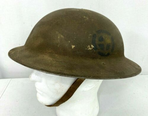 "Original WWI US Army 35th ""Santa Fe"" Infantry Division Helmet"