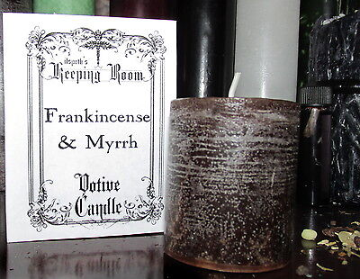 Frankincense & Myrrh Votive Candle Handcrafted Wiccan Supplies Witch Occult