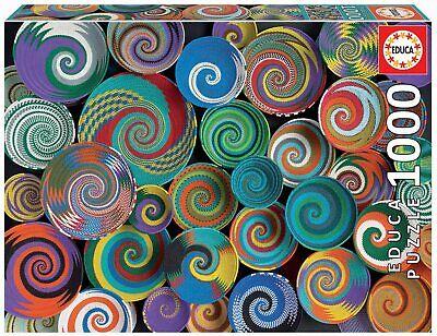 Educa 19020. Cestas Africanas. Puzzle de 1000 piezas. Serie Genuine