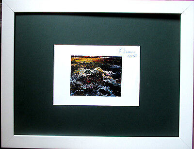BERND ZIMMER >Mare Mosso< HAND-SIGNIERT, dat.,20x15,Multiple, Rahmen,orig.signed