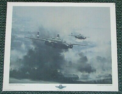 NORTH AMERICAN B-25 MITCHELL BOMBERS  WW11 AIRCRAFT POSTER