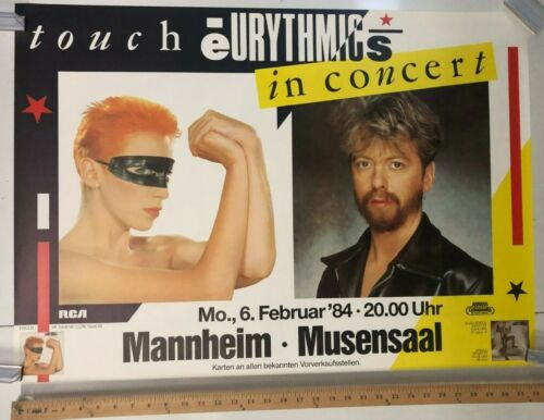 Touch Eurythmics In Concert 1984 Mannheim German Promo Poster Classic Rock