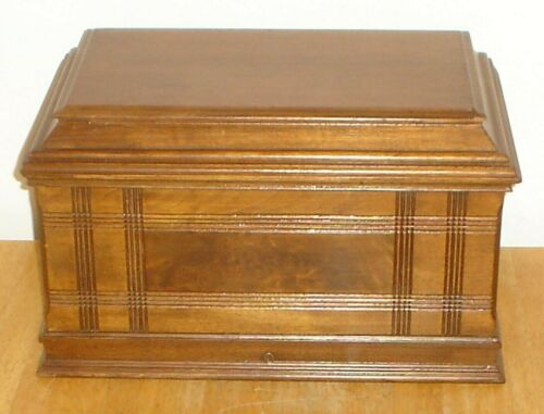 Antique Singer Sewing Machine Wood / Wooden Coffin Cover Lid Top - Vintage Parts