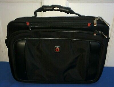 Black Wenger Laptop Case/Attache~Swiss Army GREAT CONDITION w/ Shoulder Strap for sale  Shipping to India
