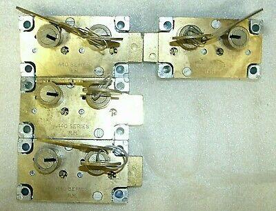 Lot Of 4 Reisner 440 Safe Deposit Locks-used-as Is 3 Right-1 Left