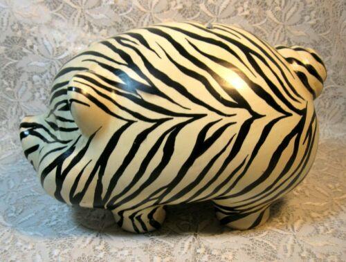 Porcelain Zebra Collectible Piggy Bank