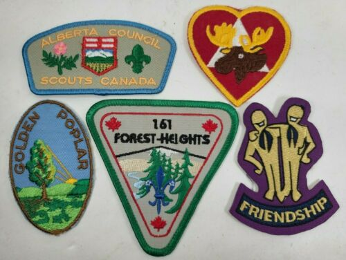 Boy Scouts Cubs Canada Patch Badge Vintage LOT Alberta Friends Forest Heights