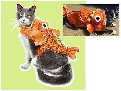 "Petco Bootique""GoldFish""XS/S Dog Halloween Costume Catch of the Day Orange Cat"
