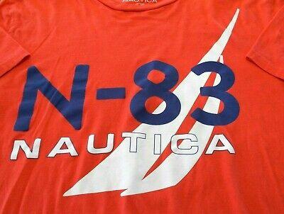 Nautica Men's xl XL Blue Red White Tee T shirt 100% Cotton 162011