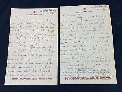 1944 US Navy SEABEE Red Cross Letter To Wife