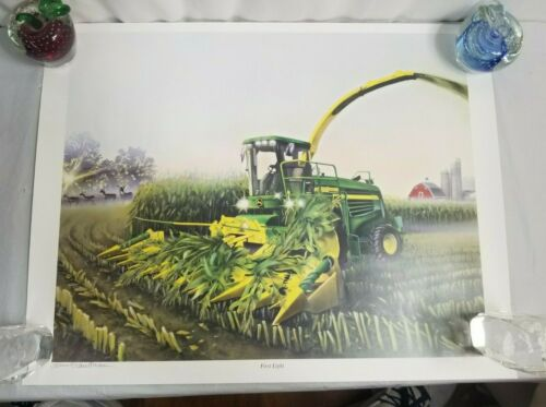 "2001 John Deere ""FIRST LIGHT"" #949 Art Print JD9"