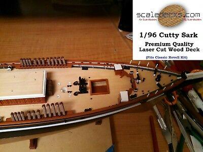 Wood Deck for 1/96 Cutty Sark Revell kit by Scaledecks.com