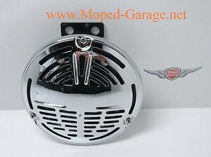 Harley Davidson Horn Hupe Drag Round Chrome Old Style Motorrad Neu *