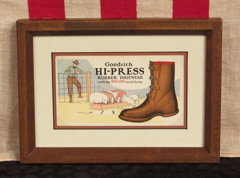 Vintage 1930s Goodrich Hi-Press Rubber Footwear Advertising Ink Blotter Boots