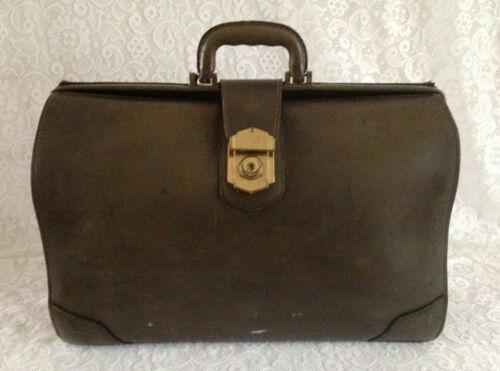 Vintage Leather Doctors Bag Satchel Case Commercial Union Assurance Insurance Co