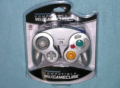 Brand New Controller for Nintendo GameCube or Wii -- PLATINUM(Retail)