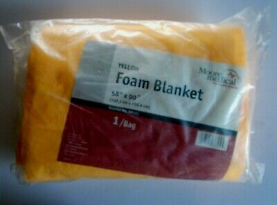 Moore Medical Yellow Foam Blanket - Emergency Equipment - 58 Inches X 90 Inches