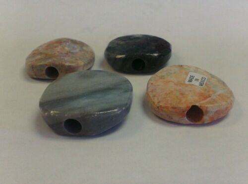 *SMALLER HOLE* ONYX ROUND SMOKING STONE CARVED UNFILTERED CIGARETTES SMALL CIGAR