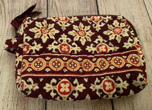Vera Bradley Cosmetic Bag in Medallion - Make-up Case - Floral - Brown