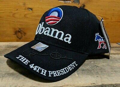 Signature Adjustable Hat - BARACK OBAMA 44TH PRESIDENT US PRESIDENTIAL SIGNATURE ADJUSTABLE CAP HAT - NWT