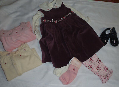GYMBOREE Classic Holiday 12-18 Month Dress Bodysuit Pants Shoes Sweater Outfit