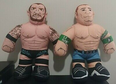 "Brawlin Buddies x2 WWE 2012 John Cena 2011 Randy Orton Plush Wrestler 16"""