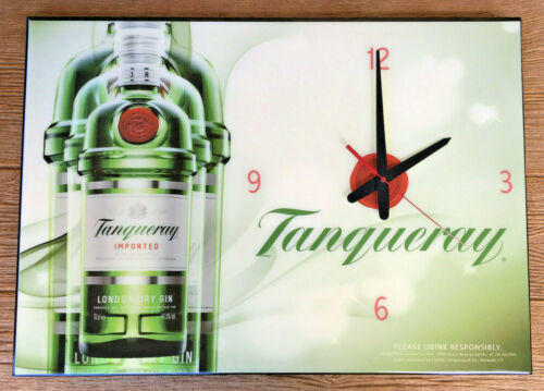 "Tanqueray London Dry Gin Large 24"" x 17"" Wall Sign Clock 2011 Very Hard to Find"