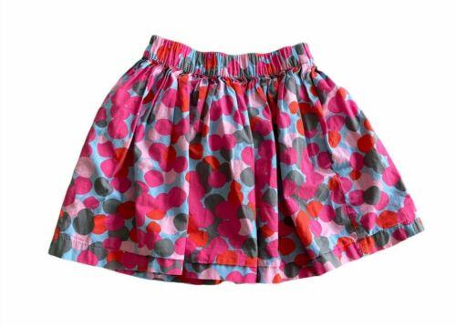 Hanna Andersson Girls Polka Dot Skirt Multicolor Elastic Waist Sz 130 US 8