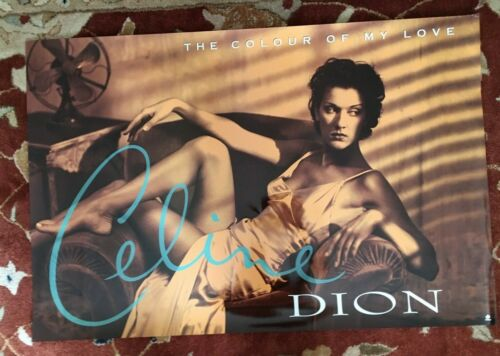 CELINE DION  The Colour of My Love  rare original promotional poster