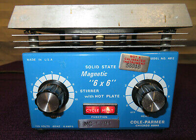 Cole Parmer Magnetic 6 X 6 Stirrer With Hot Plate Model 4812-used