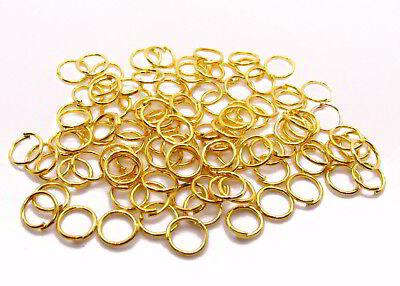 100 Biegeringe 6 mm, goldfarben, Perlen und Schmuck basteln, Ösen, verbinden