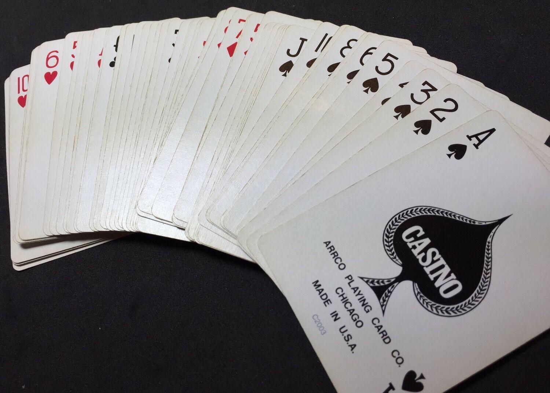 Arrco Club Casino No 88 Used 52 52 Gamblers Poker Playing Cards Worn Box Ebay