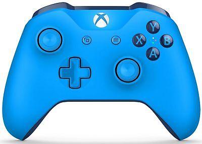 Genuine Blue Vortex Limited Edition Microsoft Xbox One S Wireless Controller.