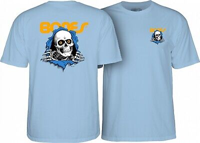Powell Peralta ANIMAL CHIN Skateboard Shirt POWDER BLUE XXL
