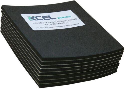 "XCEL Neoprene Sponge Rubber Anti-Vibration Pads w/ Adhesive 6""x6""x1/4"" (8 pcs)"
