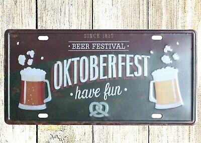 US SELLER- Beer Festival Oktoberfest Volksfest tin sign car plate decor house
