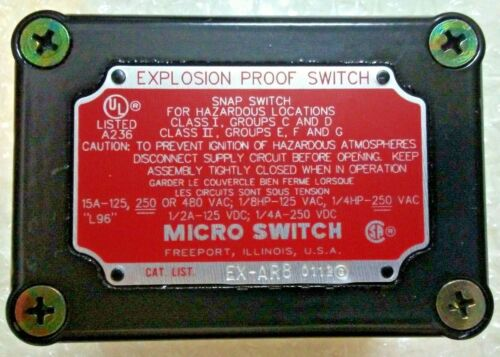Honeywell EX-AR8 Snap Action Limit Switch