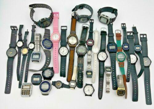 Lot of 32 CASIO Watches - Vintage, Modern, G-Shock, Quartz, Analog Men