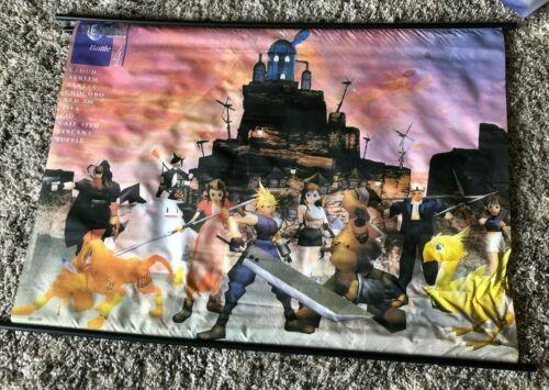 Final Fantasy 7 Wall Scroll / Tapestry (Original Release 1997) - Rare 43 x 32 in