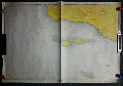 "1966 ""Point Dume to Purisima Point"" California C&GS Map / Chart 5202 - 32"" x 44"""