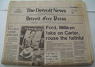 1990   Detroit Free Press July 15  1990 Ford  Milliken Take On Carter