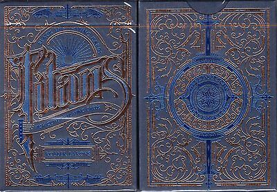 Titans Robber Barons Blue Playing Cards Poker Size Deck LPCC Custom Limited New