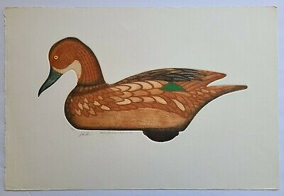 1950 Arthur Nevin Signed 'Green Wing Ten Hen Decoy' Aquatint Etching #93/150