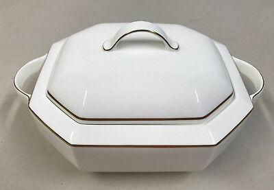 Pearl Covered Vegetable Bowl - Villaroy & Boch BLACK PEARL Octagon Covered Vegetable Bowl / Tureen