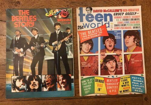 The Beatles - (2) Teen World Magazine December 1965 & The Beatles Story 1974