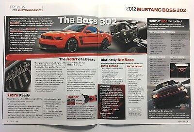 RARE MINT 2012 FORD MUSTANG BOSS 302 & BOSS 302 LAGUNA SECA FORD DEALER BROCHURE