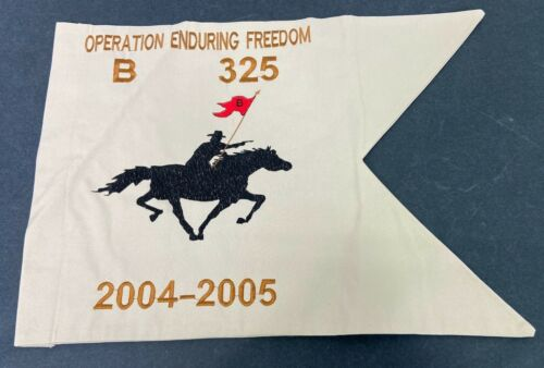 2005 US Army Operation Enduring Freedom Company Guide On Flag